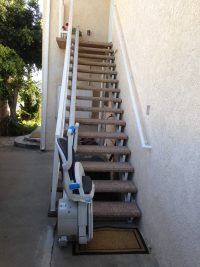 Outdoor Straight Stair Lift