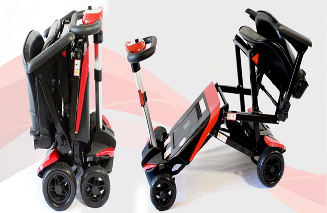 Transformer Electric Self Folding Remote Mobility Scooter