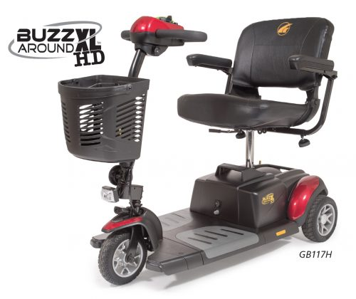 Buzzaround XLHD 3 Wheel Compact Mobility Travel Scooter