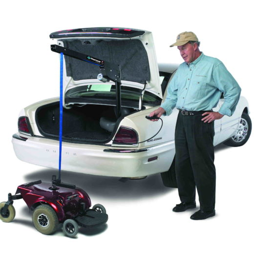 inside vehicle scooter lift