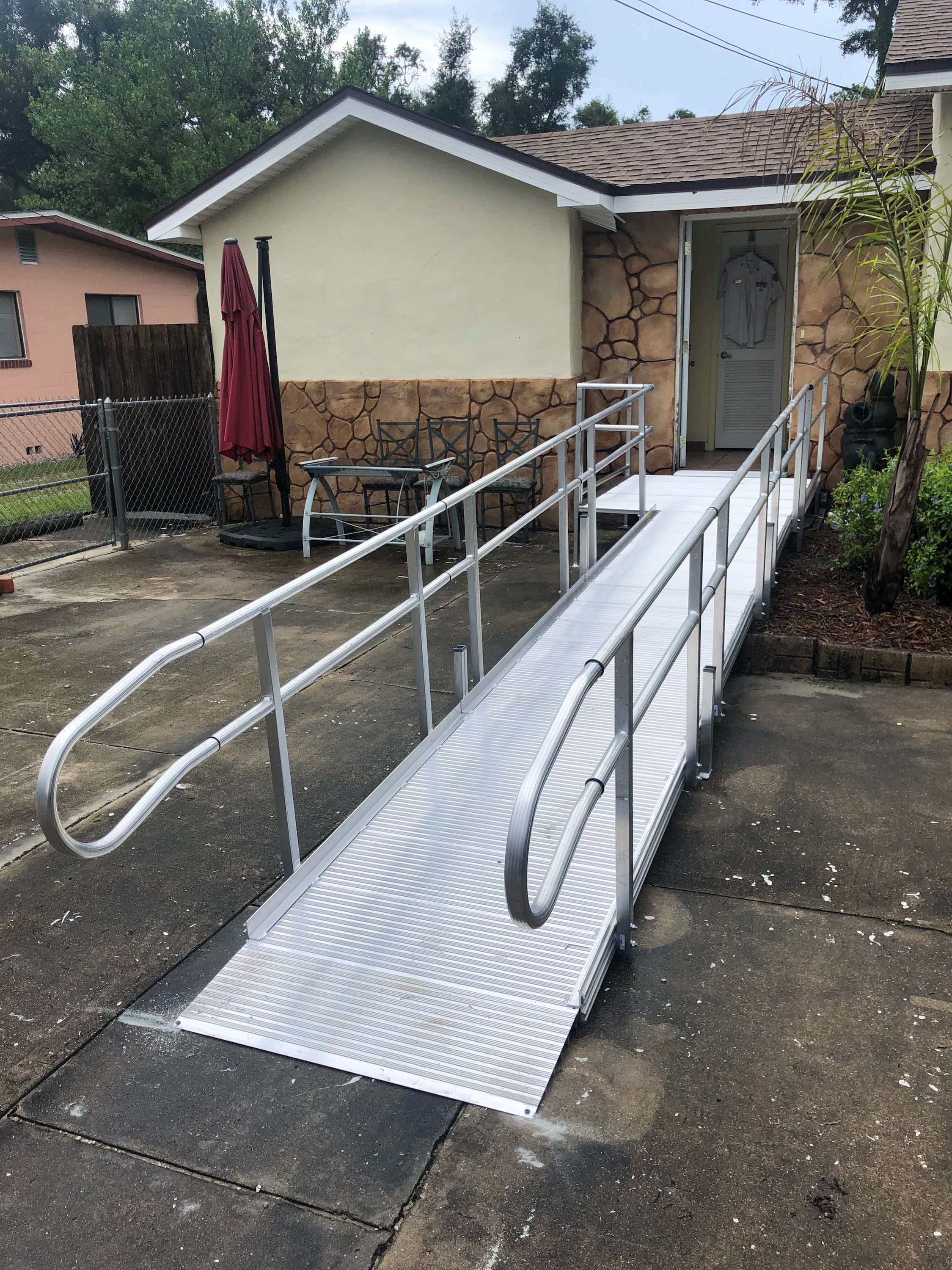 aluminum wheelchair ramp for outside home